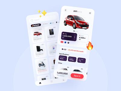 Rentify app iran renting ui app design ui uidesigns ui shot uiux ui design persian ui ui concept concept rental app renting app
