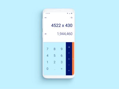 Simple Calculator App - Dailyui Challange #004