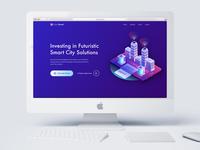 Futuristic Smart City Landing Page - #DailiUI003