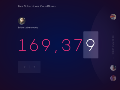 Live Countdown For Dribbble Subscribers