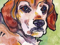Another Pop Art Pup Watercolor