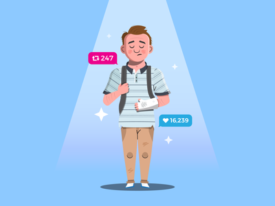 All we see is sky for forever blue character design dear evan hansen new york broadway series stage musicals evan deh ai outline illustrator character flat simple icon vector design illustration