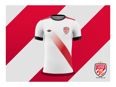 Pub Standard-Liege Kit identity kit vector typography team team logo stripes soccer simple logo red icon gold design football colour palette branding adobe illustrator 2d illustration