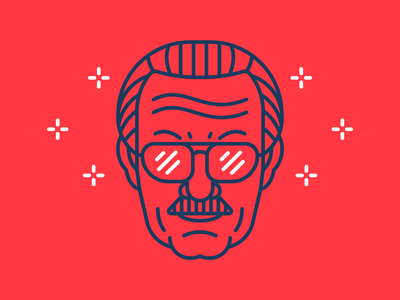 RIP Stan Lee outline ai icon flat head stroke icon character outline illustration comics stan excelsior superhero marvel comics legend rip marvel stan lee vector design illustration