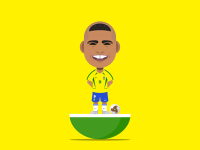 Ronaldo Luís Nazário de Lima cool worldcup brazilian inter geometric goat realmadrid barcelona r9 brazil ronaldo illustrator logo soccer football avatar character vector design illustration