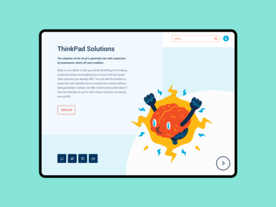 Thinkpad Ipad Landing Page Design