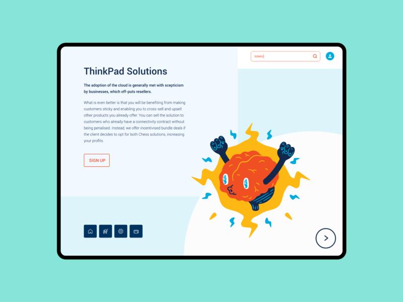 Thinkpad Ipad Landing Page Design app vector typography type lettering ios illustration icon clean minimal logo identity branding animation mobile design website web ux ui