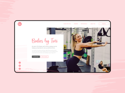 Personal Training Fitness Website Landing Page ecommerce
