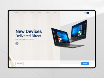 Technology Landing Page Design Webite