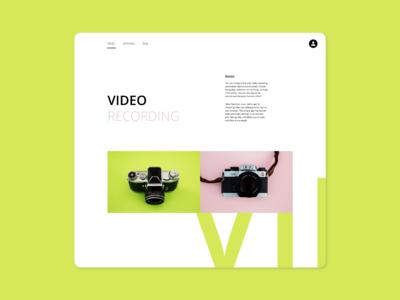 Video Camera Landing Page
