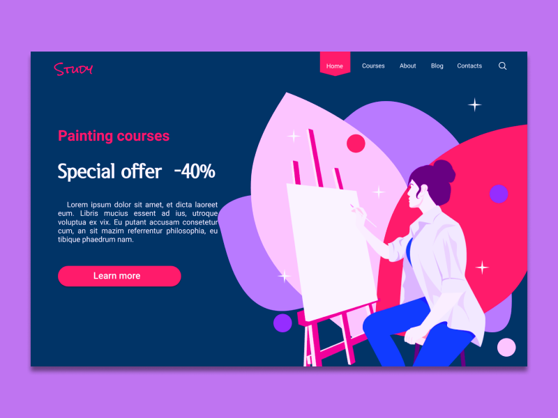 Special offer | Dailyui 036 painting courses challange dailyuichallange dailyui 036 036 ui  ux design ui ux uidesign illustration vector web daily dailui