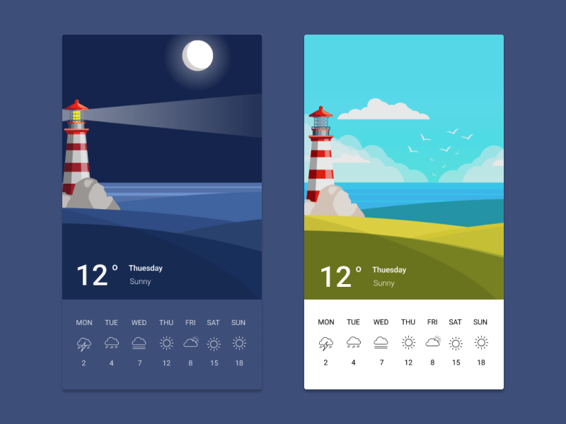 Weather UI 037 dailyui 037 android design weather android challange illustration vector uidesign app daily dailui ui design