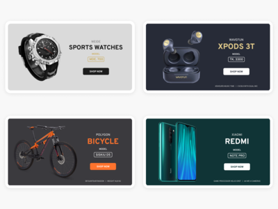 E-commerce banners