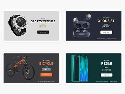 E-commerce banners typography desktop graphic design ui design web banners uiux design
