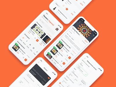 Sushi app design app illustration vector web graphic design uiux ui design