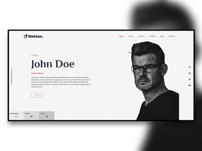 Neteor - Web Designer Portfolio HTML5 mobile responsive ux ui clean modern creative web design webdevelopment css3 webdesigner webdesign designer html5 portfolio design portfolio website portfolio