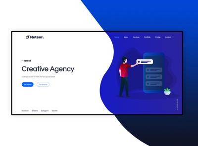 Neteor - Creative Agency HTML5 Landing Page webdesign web ux uiux ui trending responsive portfolio website portfolio design portfolio modern mobile html5 agency designer design css3 creative clean design clean
