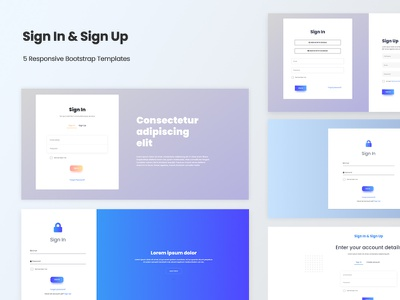 Sign In & Sign Up - Responsive HTML5 Bootstrap Templates creative development modern template bootstrap mobile web ux ui clean javascript css html php login signup signin design responsive
