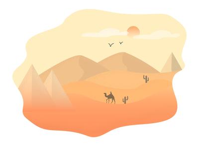 Desert Vector Illustration type responsive css web minimal website lettering icon mobile flat animation ux ui identity clean branding vector logo illustration design