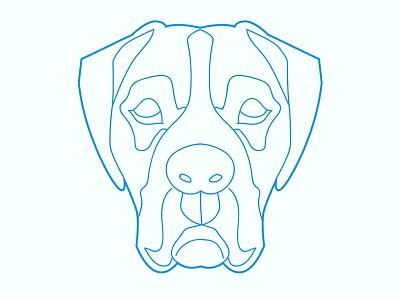 Dog face web branding type logo animation flat icon vector illustration ux ui identity clean design