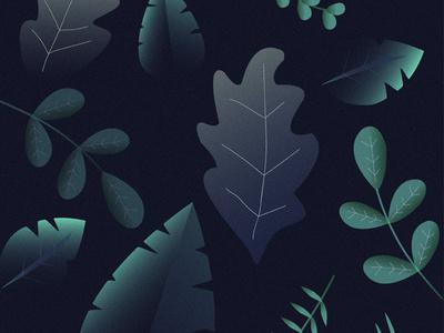 Leaf Design - Adobe Illustrator character illustrator minimal mobile lettering typography illustration icon logo flat type vector animation web ui ux identity design clean branding
