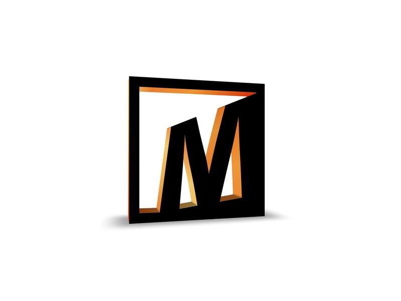 M logomark logotyp logo 3d gradiant 3d letter mark typography designinpiration design art black photoshop illustration adobeilustrator adobe icon logo design branding