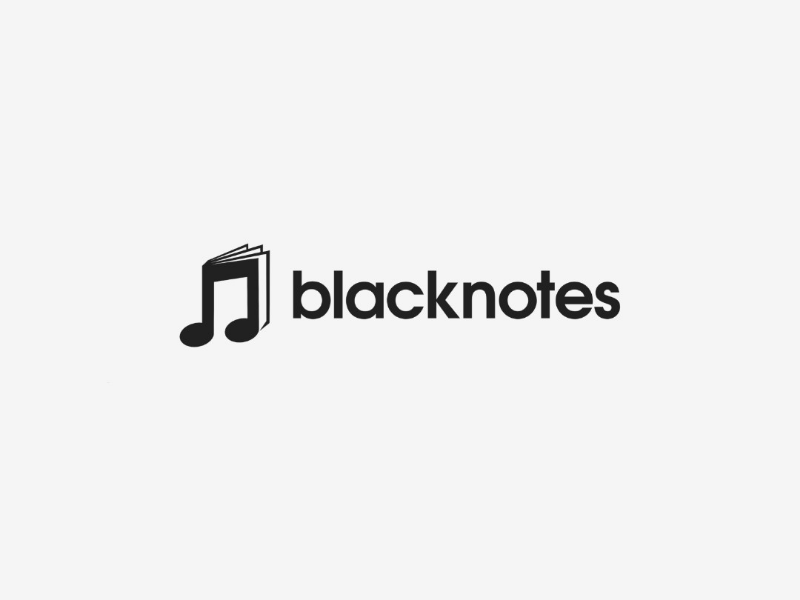 blacknotes music co. logo logomark notes music logotype logopassion logoinspirations logodesigner logodesign logo graphicdesign designinspirations