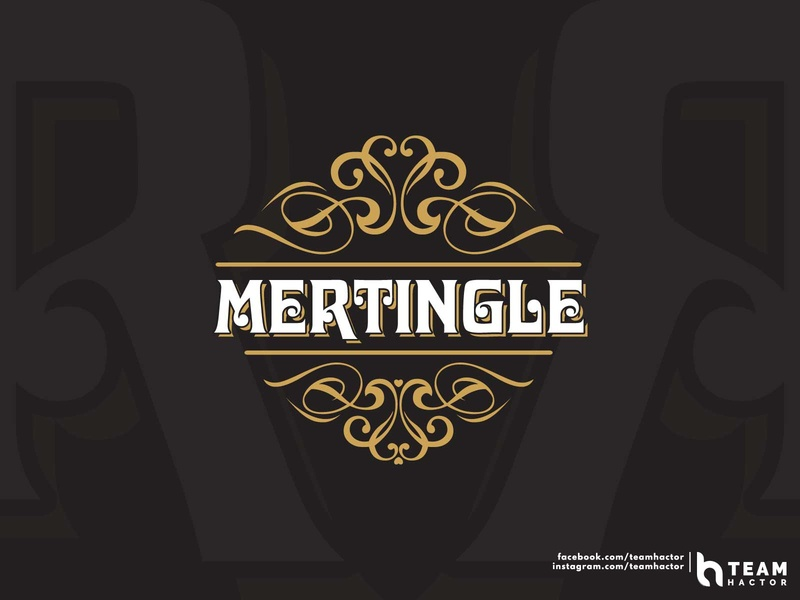 Mertingle | Wine Shop Logo Concept | Vintage | Team Hactor wine shop mertingle ui typo typeface trending teams teamhactor shots recent popular logo lettering gradient explore dribbble design custom logo club logo branding