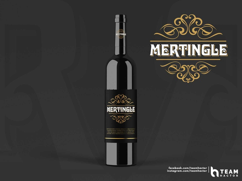Mertingle | Wine Shop Logo | Vintage | Present | Team Hactor mertingle wine shop ui typo typeface trending teams teamhactor shots recent popular logo lettering gradient explore dribbble design custom logo club logo branding