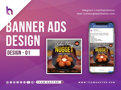 Creative Social Media Food Banner Ads Design - 1 by Team Hactor ads ads design ad banner ad banners banner design display ads marketing marketing campaign retargeting banner ads remarketing food restaurant branding