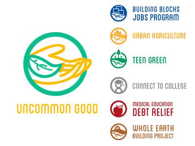 Uncommon Good Update studentwork wip nonprofit logo branding subbrands