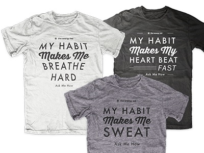 My habit fitness tees