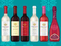 Stella Rosa Holiday Wine Illustrations