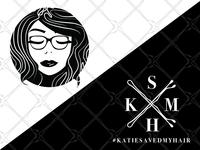Katie Save My Hair Logo Design