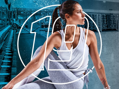 Get It All Fitness 19 Gyms contemplation studio gym cardio weights yoga gradient texture blue logo photography colorful branding fitness collage contemporary