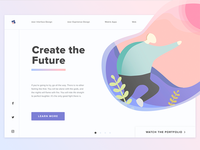 Create the Future - Web Illustration