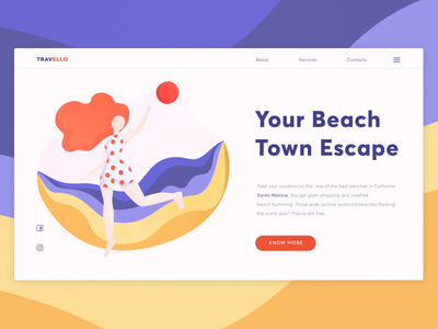 Travel Illustration 🧳 uiux web design website travel girl artwork vector gradient gradients bright typography clean web art minimal ux design illustration illustrator ui