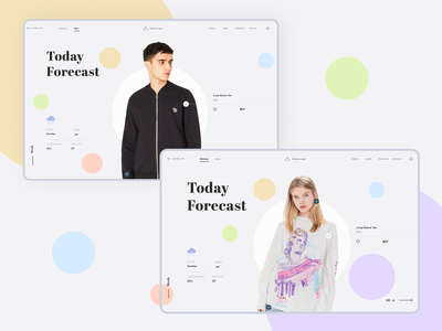 Fashion Cast vector flat logo bright branding art illustration circle minimal clean ecommerce shop clothes forecast app fashion web design ux ui
