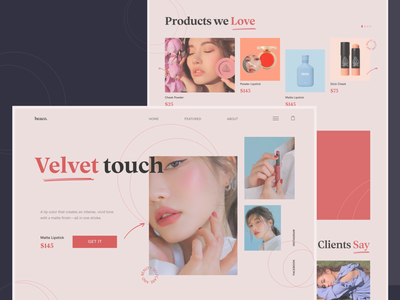 Beauty Store bright art business typography beauty grid web minimal aesthetic store ux design ui