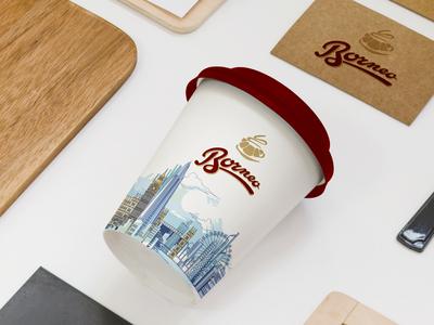 Borneo Coffee Cup Design