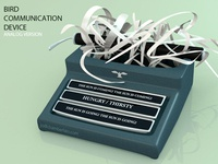 Bird Communication Device: Analog