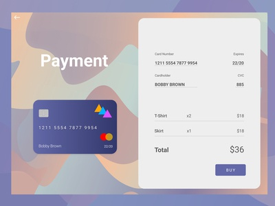 #Daily UI 002 - Credit Card Checkout
