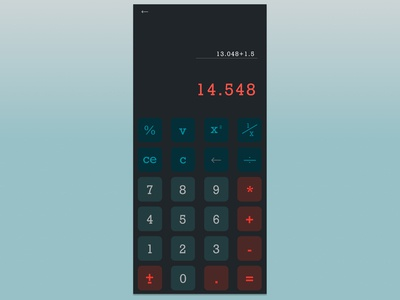 #Daily UI 004 - Calculator