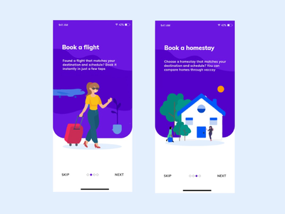 Book flight and homestay through vaccay app