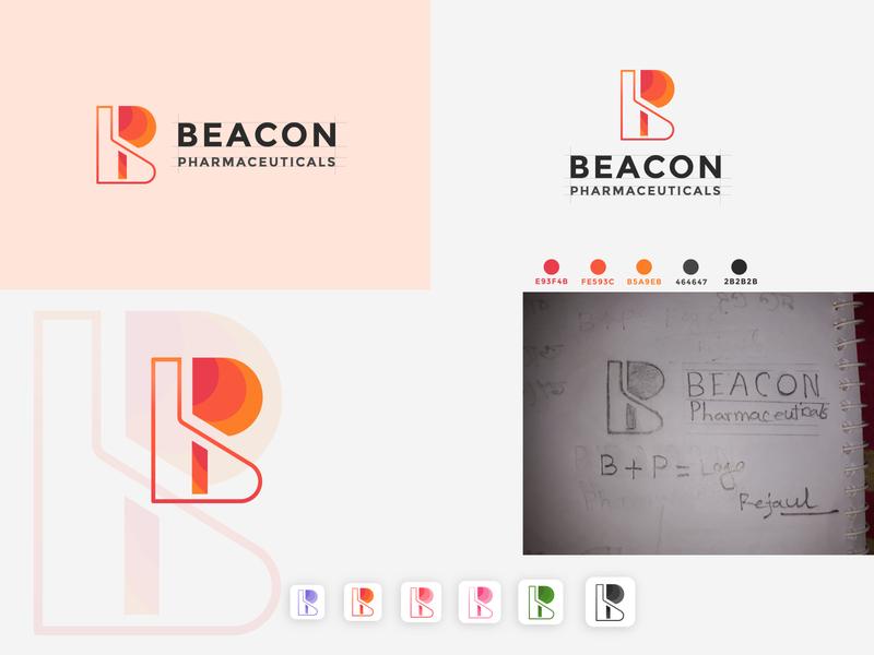 B + P logo brand identity minimal app graphic design graphic flat icon branding design logo logo design