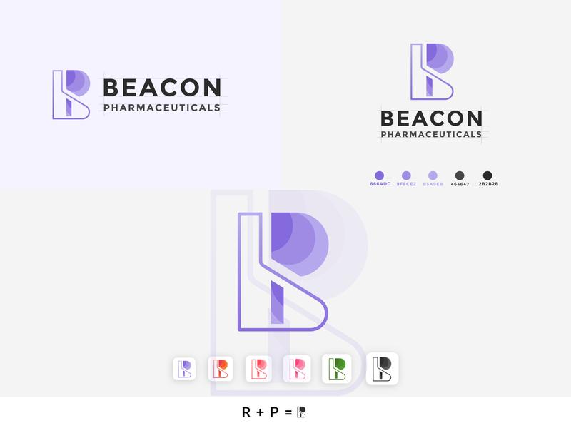 B + P logo branding design brand identity graphic design minimal app icon flat design branding logo logo design