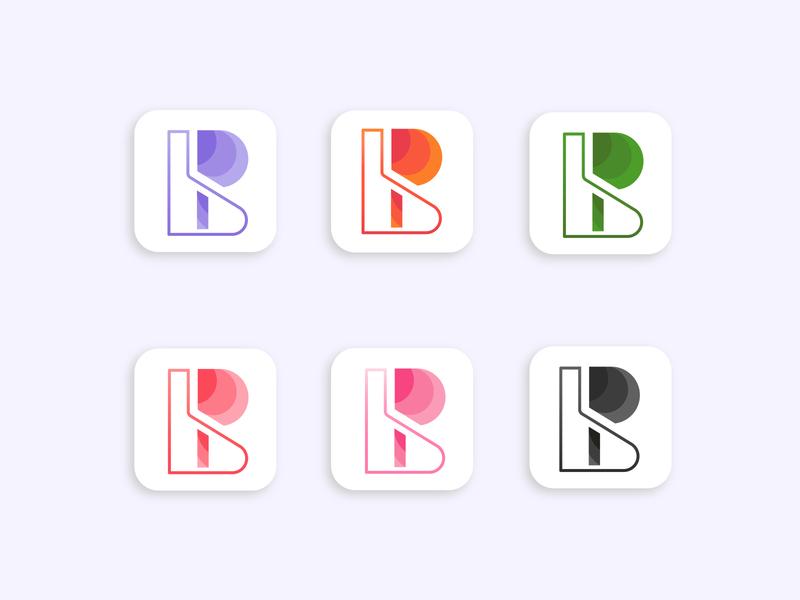 B + P logo Design brand identity flat vector graphic design app icon branding design logo logo design