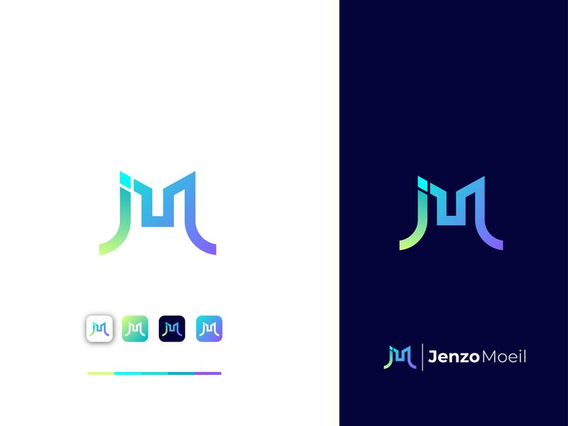 Jenzo Moeil__J and M modern letter logo design modern m letter logo logo mark mark j letter letter logo brand design brand identity icon typography branding branding design flat vector graphic design design logo logo design