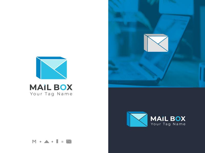 Mail Box branding logo design brand minimal gmail company mark modern mailbox mail brand design branding design brand identity flat icon typography branding vector logo design logo design