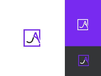 AJ Branding Design logotype template modern aj letter lettermark colorful product print concept company logo vector brand identity graphic design typography logo flat logo design design branding